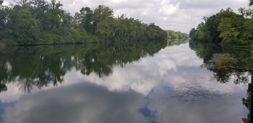 Summer Clouds = reflected in the White River