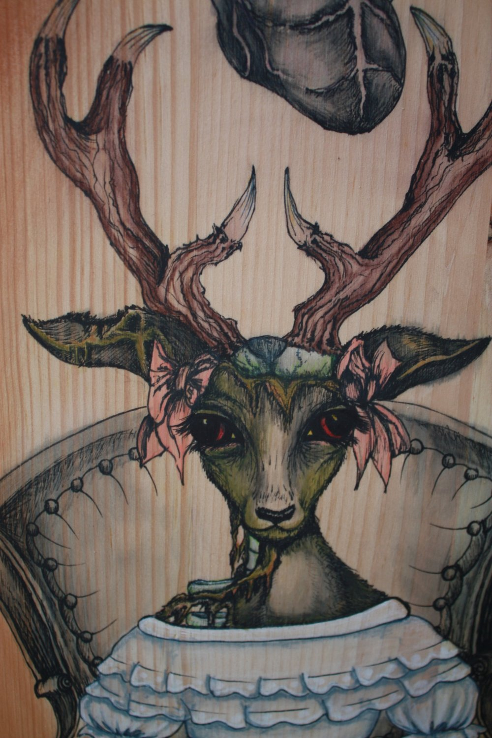 UNDEAD DEER  This is a peice I created for a zombie themed exhibition at the Green Room in Ft. Lauderdale.
