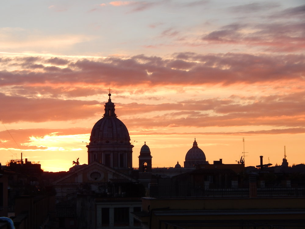 Sunset over the Spanish Steps