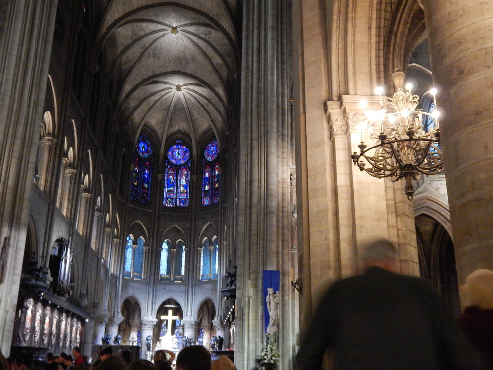 Interior at Notre Dame [Photo taken by myself-2014]