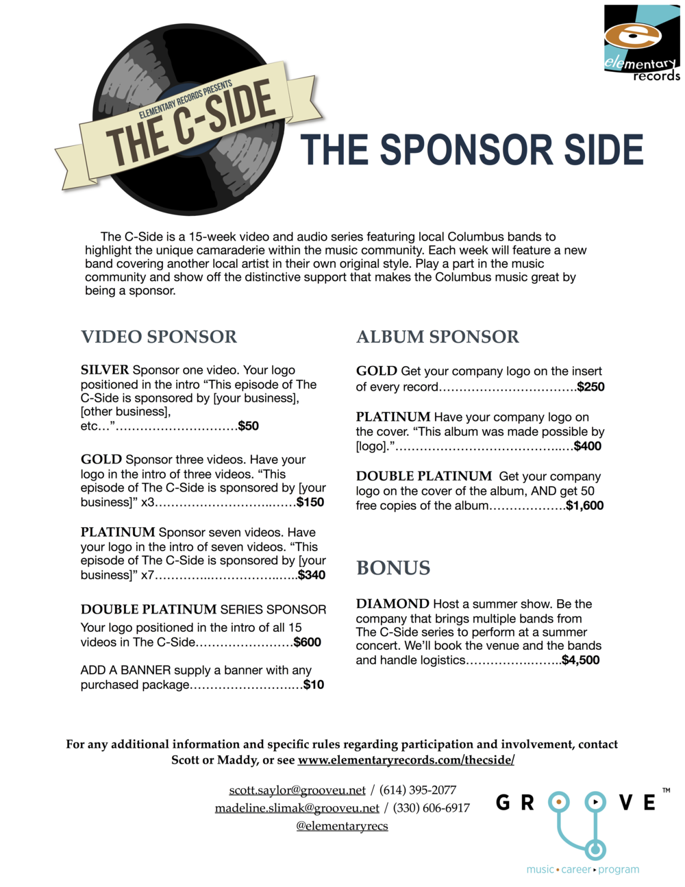 Click on the one-sheet to see the Sponsorship Package page!