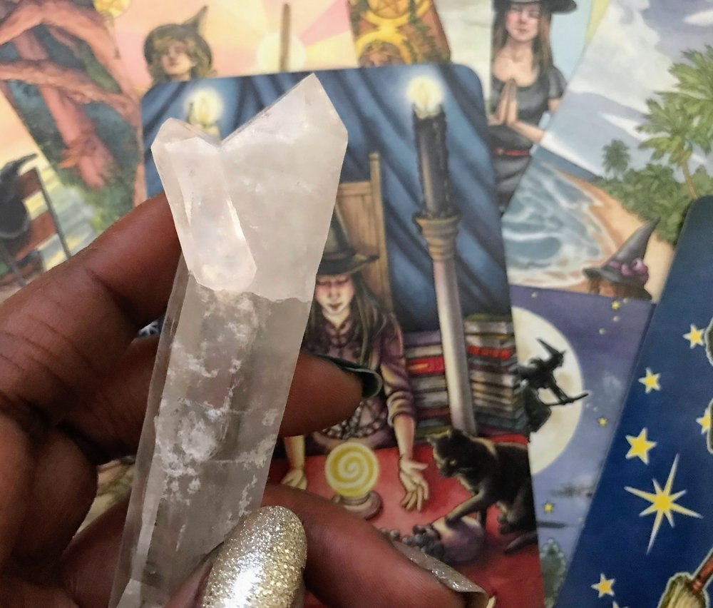 Crystals & Cards - Amplify any reading.JPG