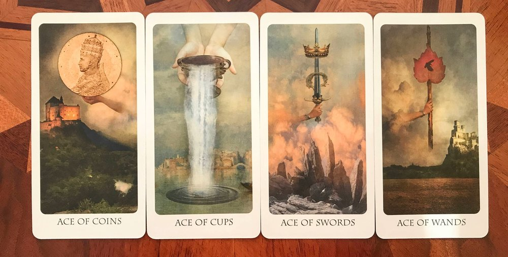 The Four Aces from The Lost Tarot