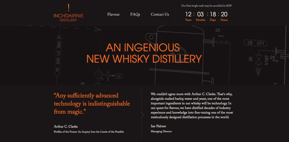 The InchDairnie Distillery website