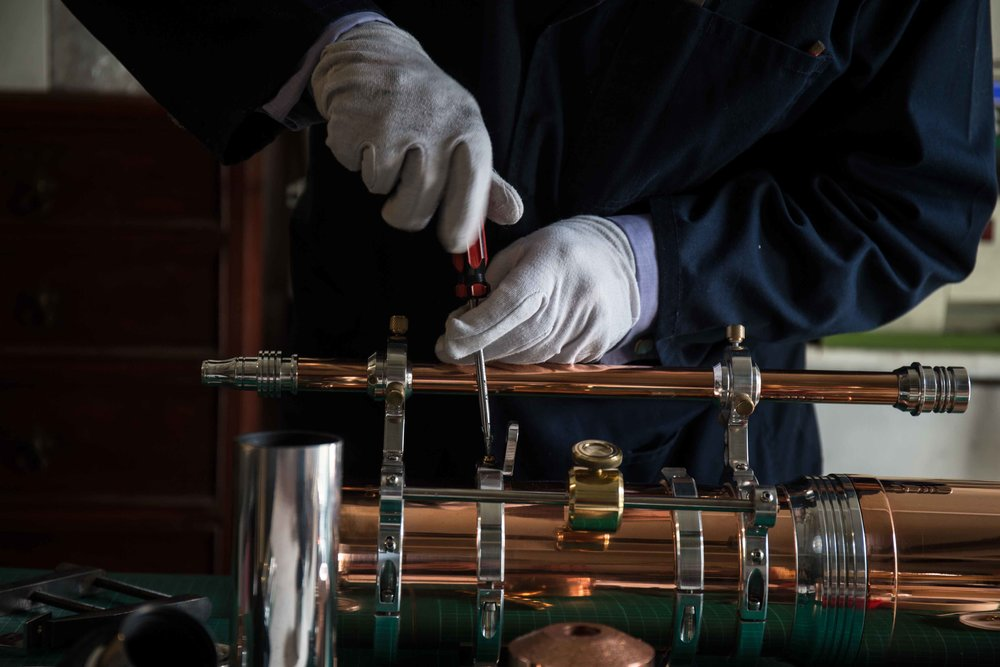 Getting a telescope handcrafted out of copper whisky stills at our live event.