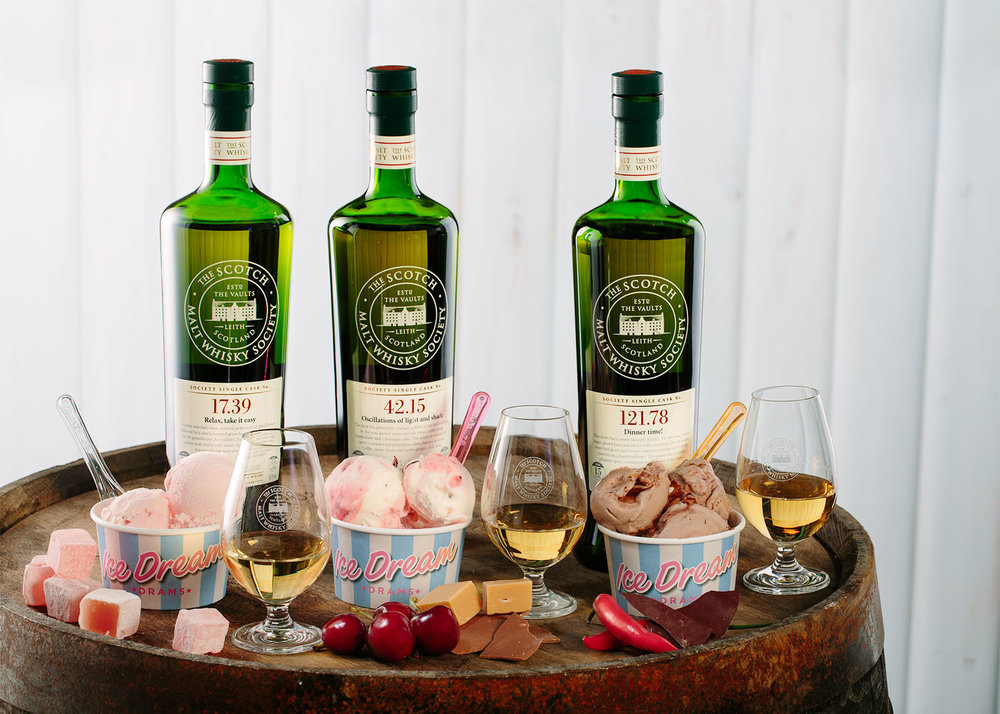 Creating 12 flavours of whisky ice-cream as part of an advertising campaign.