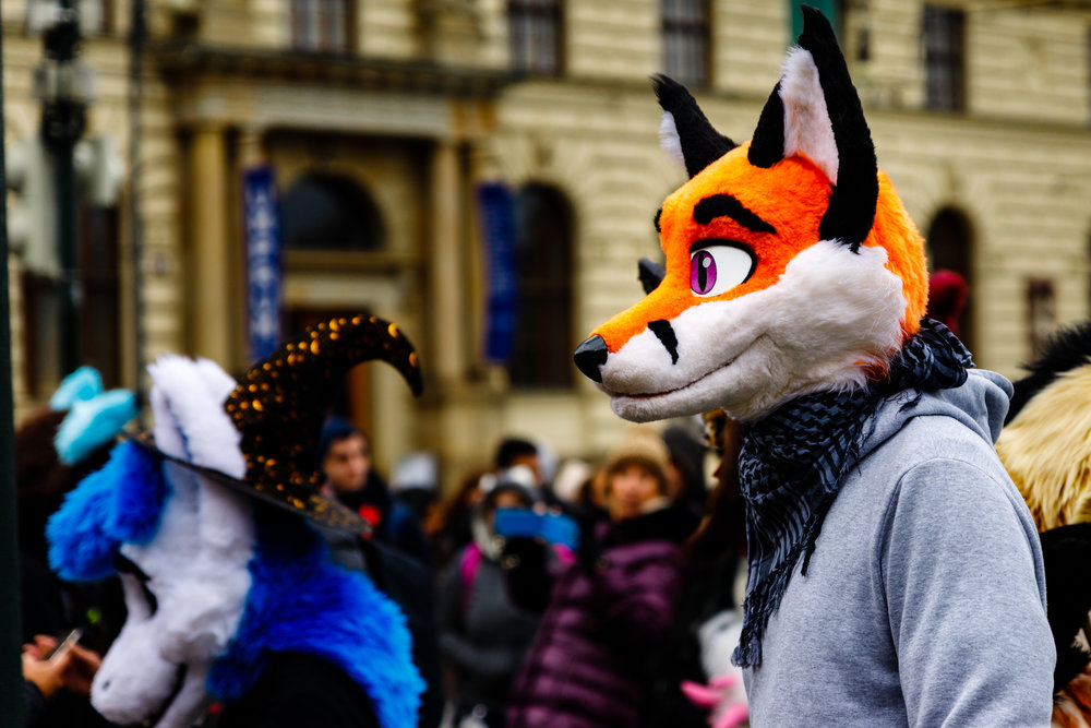 I was just walking through Prague and ran into what appeared to be a bunch of furries about to start a parade so naturally I stopped and joined the people taking some photos as they got ready and set off.