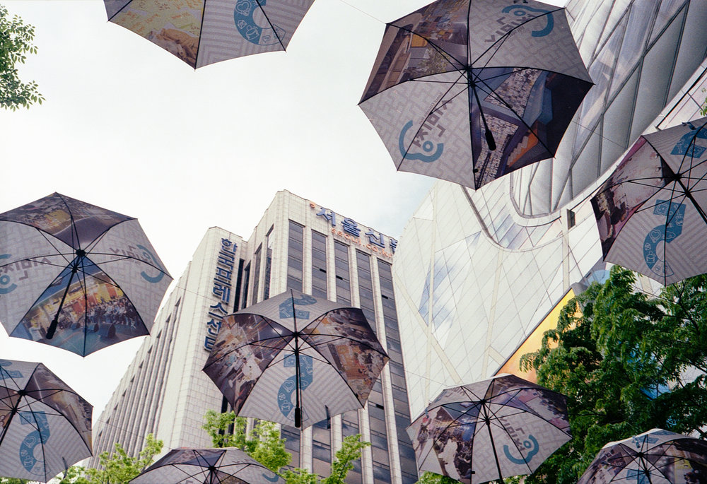 No idea what these umbrellas were about at all, looked to be just advertising if anything.
