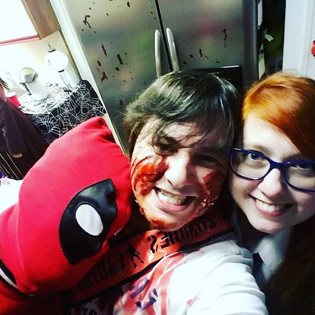 Halloween Party! #deadpool #halloweencostume #todrunk