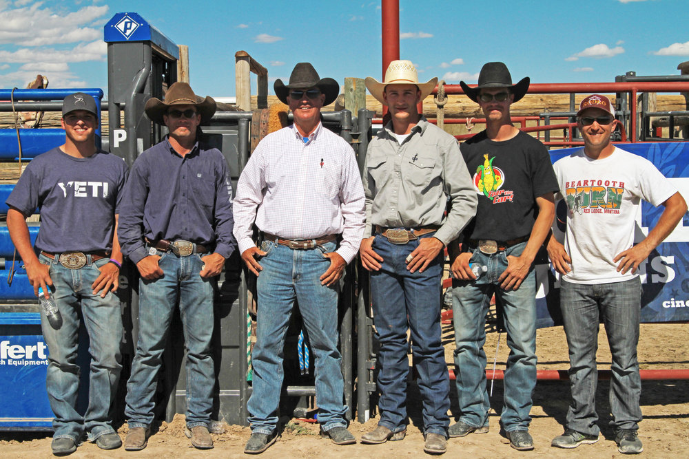 Our coach lineup for the 2016 Stoneham, CO Clinic    Left to Right: Richie Champion, Cody DeMoss, Rick Smith, Clay Elliott, Orin Larsen, and Seth Hardwick. (Missing Kelly Timberman)