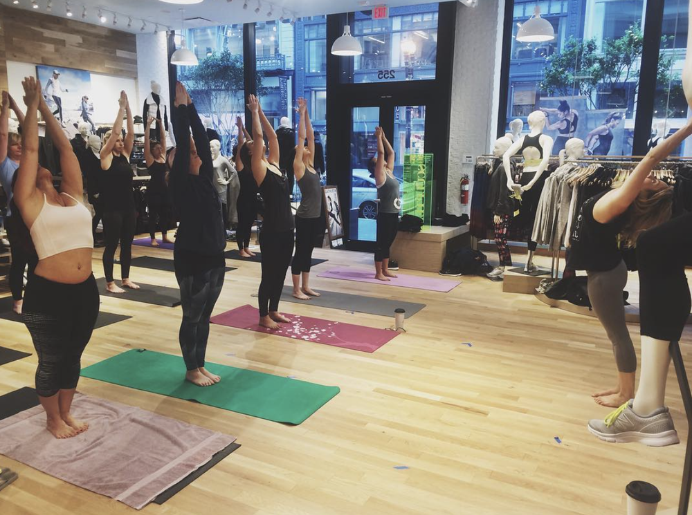 Yoga at Athleta, Sutter St. in San Francisco // by Jenna