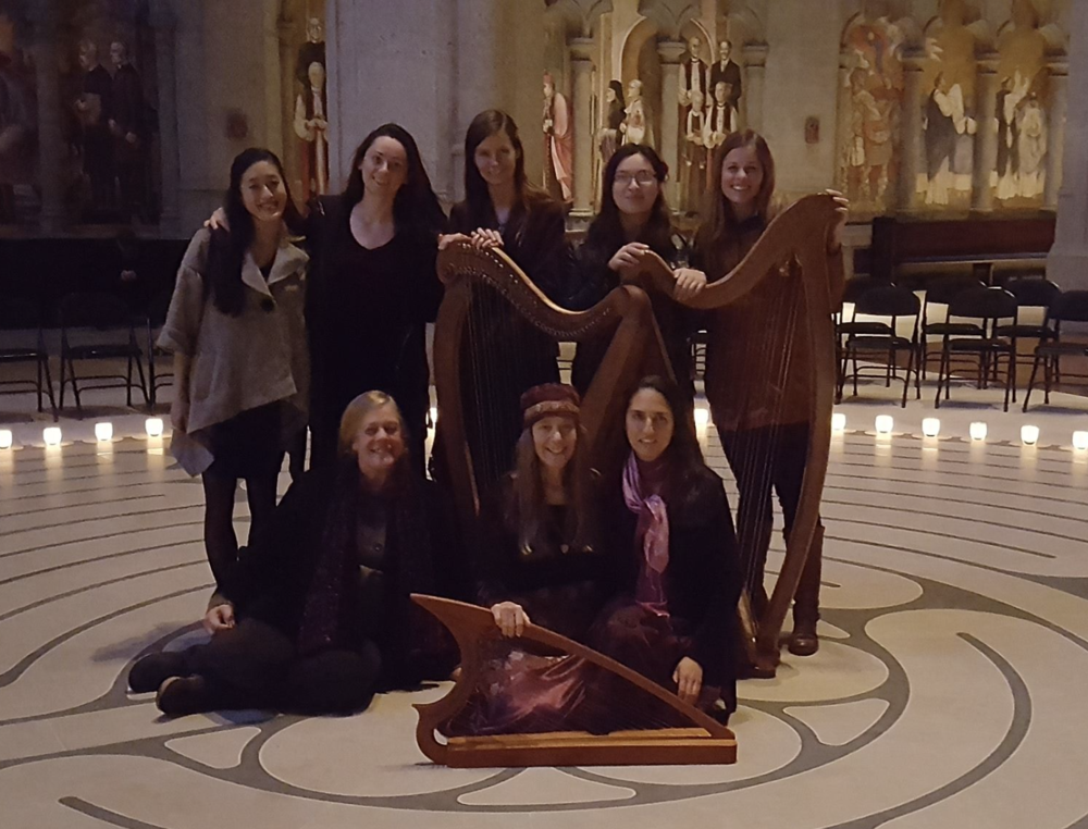 Labyrinth healing concert at Grace Cathedral // San Francisco