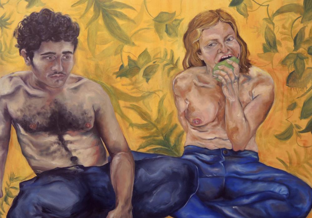 """garden of strange earthly delight   48x60"""" oil on canvas, 2016"""