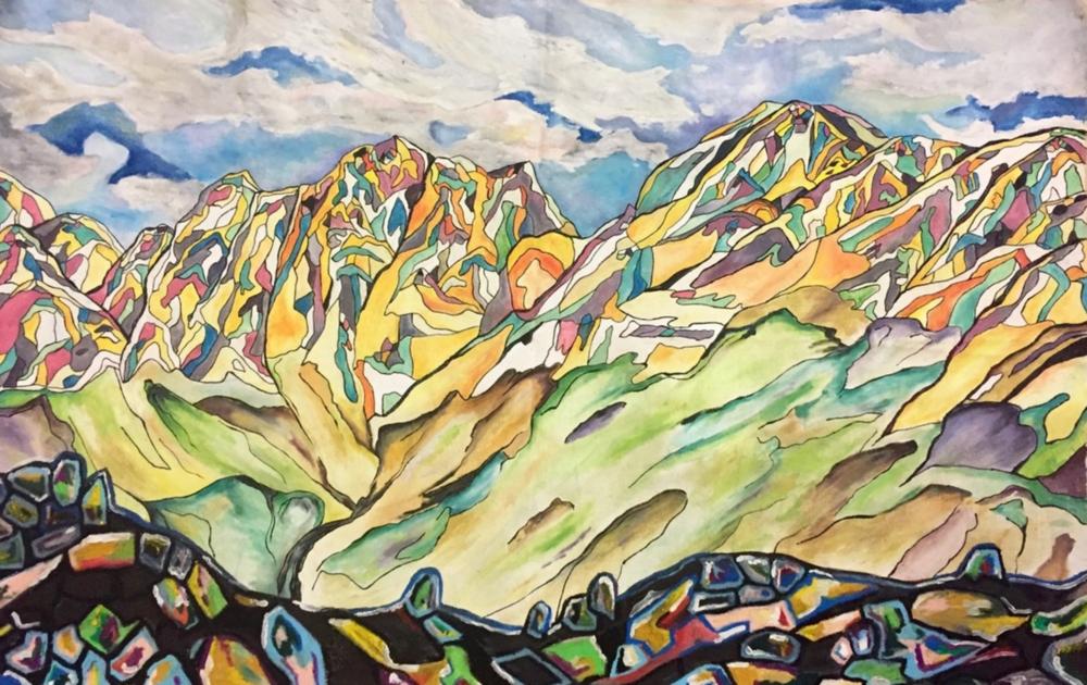 """""""Ghandruk"""", 24"""" x 36"""", oil on canvas, 2017"""
