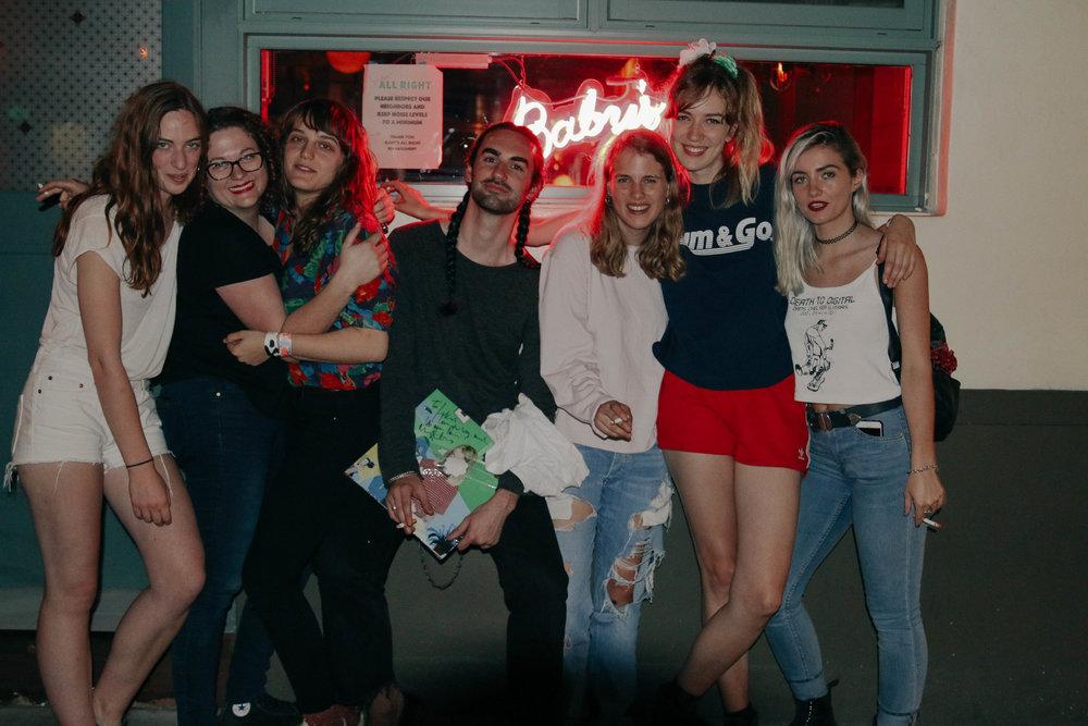 Marika Hackman, The Big Moon, Rachel, Some Rando in the middle, and I <3