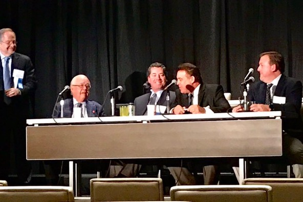 Kevin Wilk, DPT moderating the Tommy John surgery session w/ panelists Dr. Andrews, Dr. Cain, Stan Conte, DPT & Dr. Dugas  at the American Sports Medicine Institut's 35th Annual Injuries in Baseball Course.