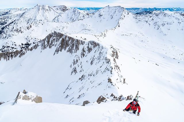 Go out, climb that peak, ski a new line, hike to a new place, hop on your bike, go outside and find your adventure whatever it may be. #goatworthy #keeputahwild #wasatchbackcountryalliance #pfeifferhorn #wasatchsplitters #splitboardingistheanswer #utahisrad