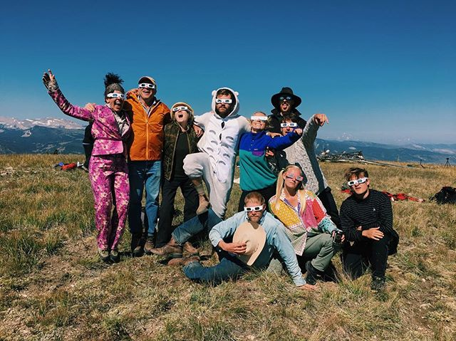 we came, we saw, we all cried. 🌑  #eclipse #totaleclipse #darwinranch #darwincrew #crewdem #wyoming #wilderness