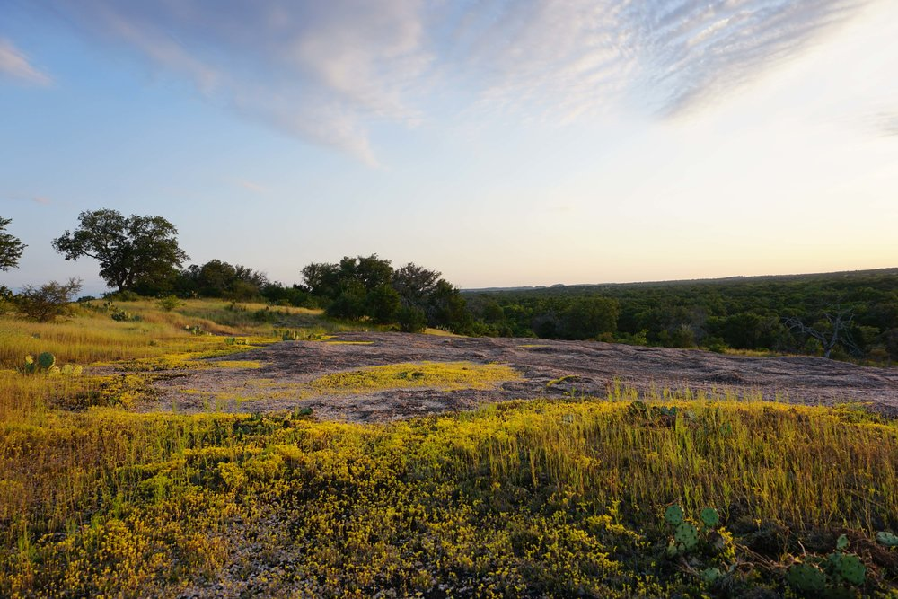 A view from Enchanted Rock State Natural Area...Yes that's practically in the backyard.