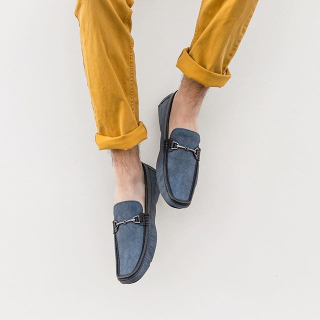 Glide outside in these cool-colored denim buckled loafers. . . . . #mercantifiorentini #mercantishoes #mymercanti #denimloafers #loafers #mensstyle #mensshoes #ootd