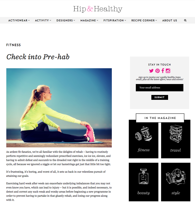 P4 Programme Feature in Hip & Healthy