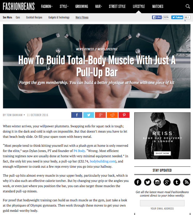How to build muscle with just a pull up bar with Tips from P4 Co Founder Dylan Jones