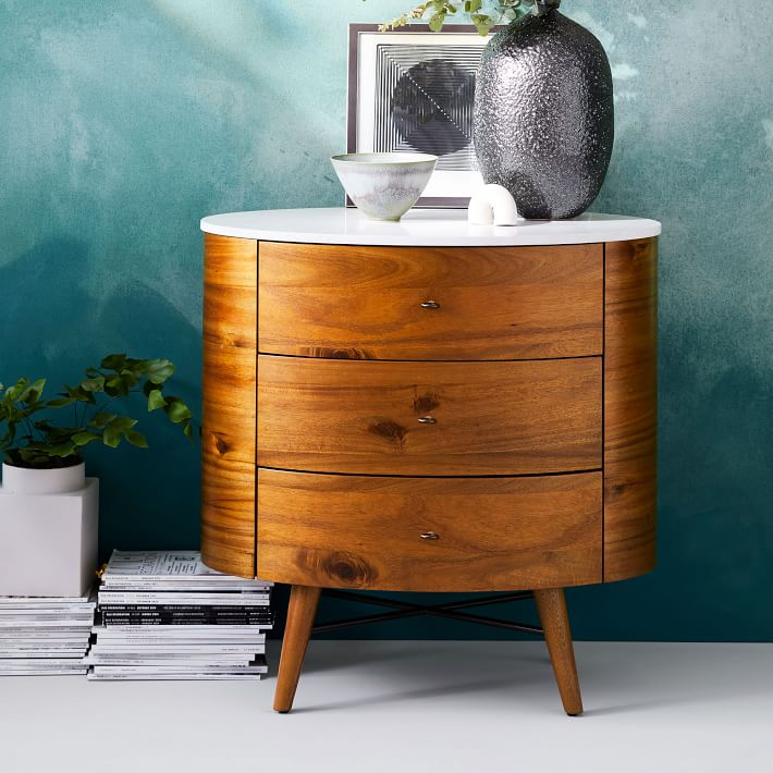 Love love love this beautiful  bedside table from West Elm,  but the price tag of $800 for just one, held me at bay.