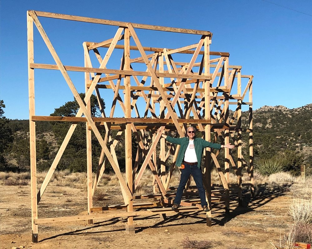 Palm Springs Center for Creativity and Textile Arts LA - Makerville Studio70101 Highway 74Mountain Center, CA 92561February 9 -April 21stOpening Reception: 12-2pm February 9, 2019.Looming ShelterLooming Shelter is a site-specific, fiber-centric collaborative exhibit that plays with questions of shelter, inclusion, and retreat, as well as exposure, scarcity, and consequence. Panels of woven, knotted, sewn, dyed, found, re-used, and rescued material will be attached to a sculptural wood frame. Additional shelters dot the landscape adjacent to the largest piece and offer different interpretations of the idea of shelter. Also included in this exhibit is a complementary installation by two folded-paper fiber artists. Visitors are invited to walk through and around the structures, experiencing its liminal nature, while benches set into the scaffolding's base offer a perch from which to observe and ponder.Artists: Bianca Barbaro, Carrie Burkle, Tyler Burton, Rita Capponi, Emilyn Eto, Annette Heully, Taylor Kibby, Jeff Morical, Anessa Shami, Carol Shaw-Sutton, Sovanchen Sorn