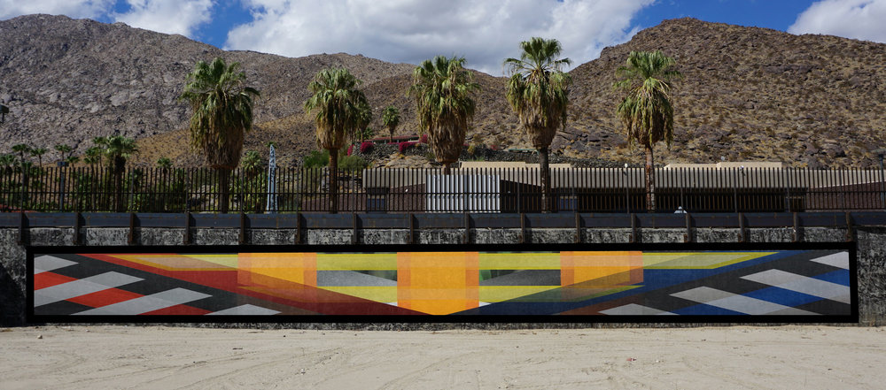 The City of Palm Springs Public Arts Commission (PSPAC) - At the corner of Museum Way and Belardo RoadImagine Art HereThe Arts Commission has contracted artist Ryan Campbell to design and create a mural to be executed from February 10 -24. The commission will invite and encourage the public to watch the process unfold daily, while the artist and team create an 80' wide mural. Over the course of those 14 days there will posted work times and selected dates where the public will be invited to browse The PIT and meet the artist and painting team. We will be using social media outlets and email blasts to promote this project, the Palm Springs Public Art collection along with other publicart events.Project dates: Start date February 10th–February 24th, 2019. Site will remain on public view through the 2019-2020 yearly seasonal calendars.February 10-15, 11am-4pm daily –Watch Ryan Campbell paint the mural liveFebruary 17th-22nd –Guests may browse the Pit and engage with the artist and painting team.