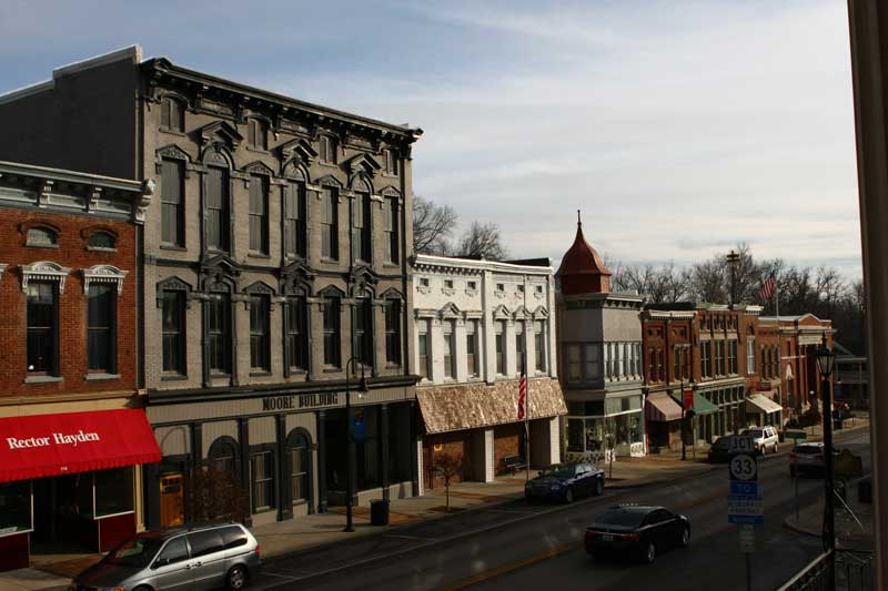 Nearby Versailles, KY offers another glimpse into beautiful small-town Kentucky with its historic building fronts and charming Main Street.