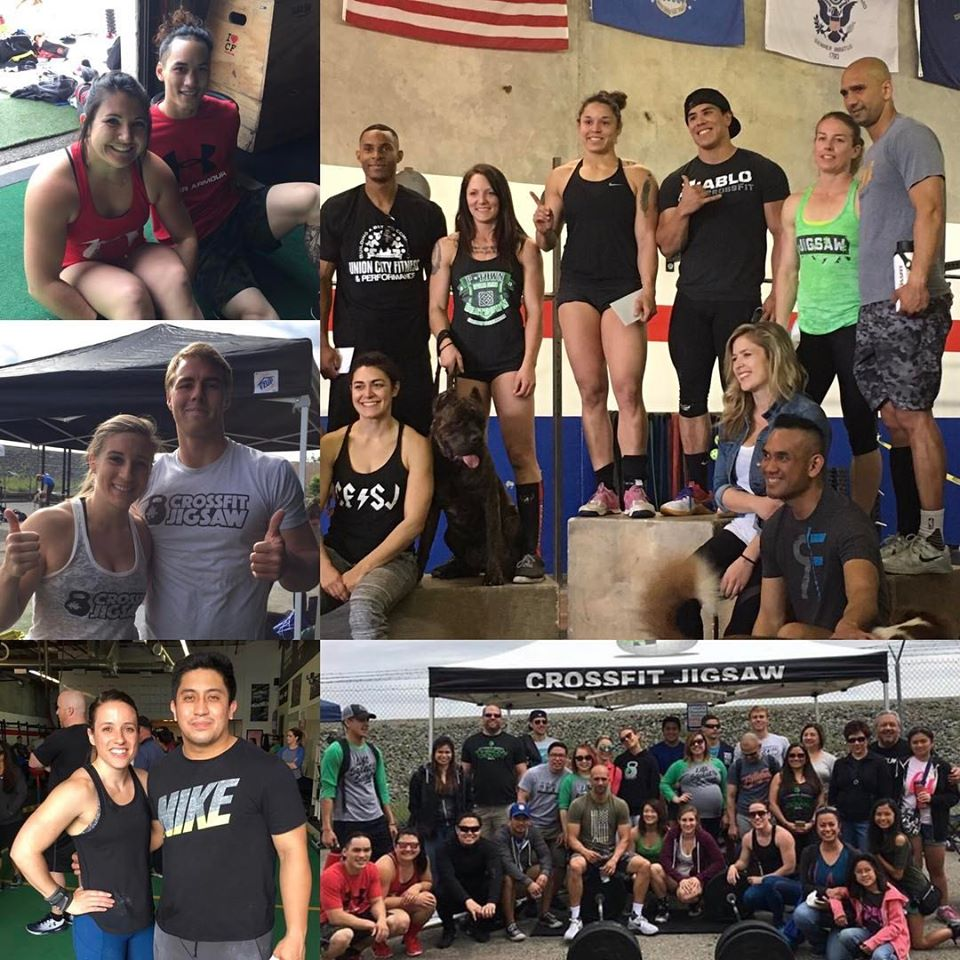 Our 4 team that competed at CrossFit Pleasanton this weekend