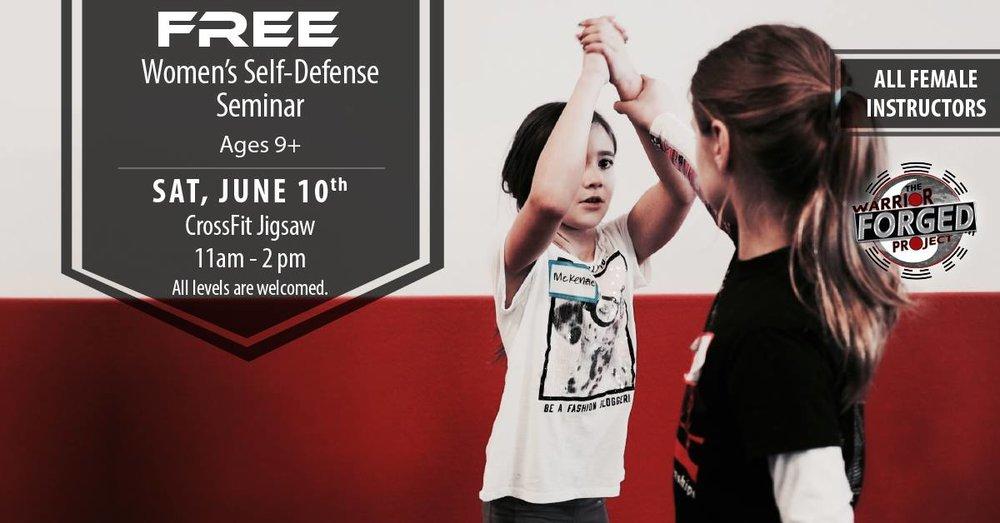 Free Women's self defense seminar this Saturday