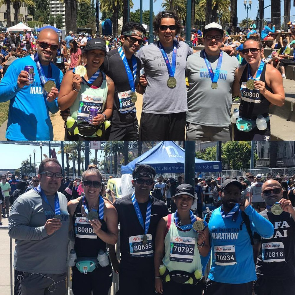 Our SF marathon and 5k finishers