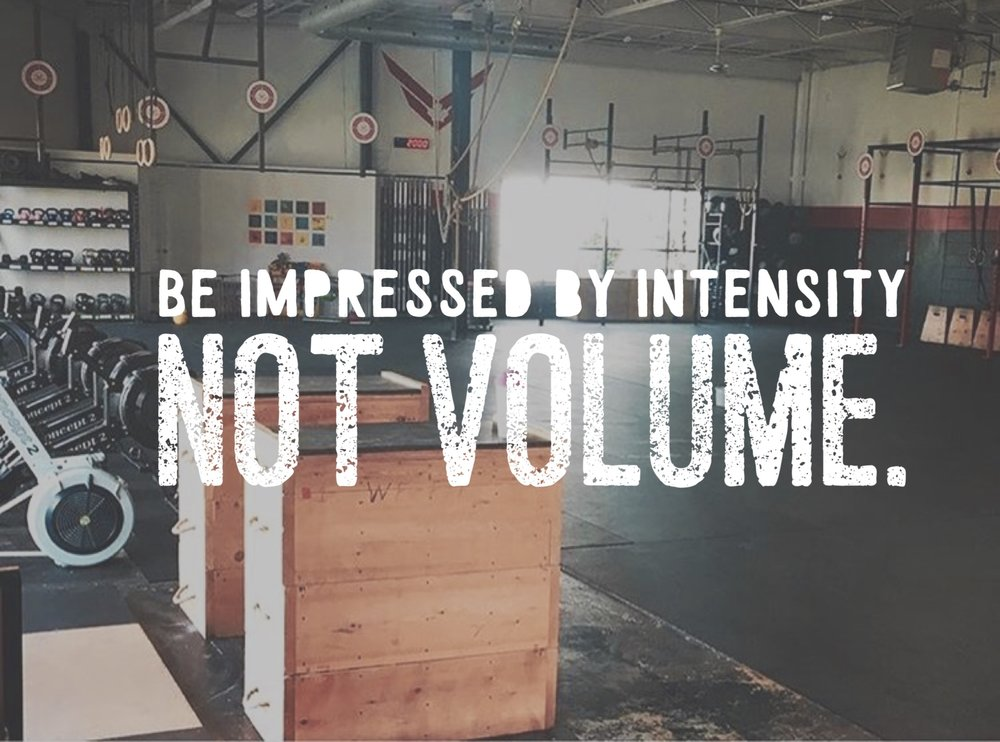 Intensity not volume
