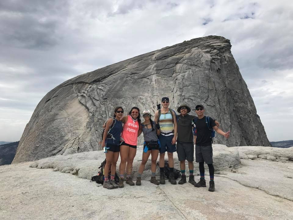 Jigsaw members on the top of half dome