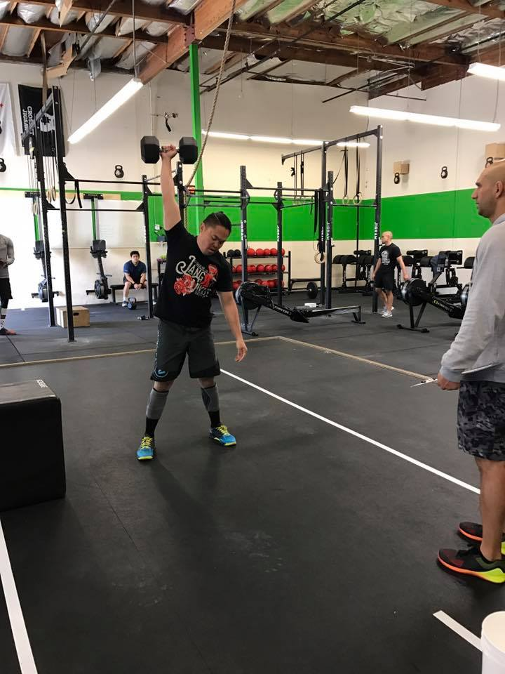 Nash during the CrossFit Open 2017