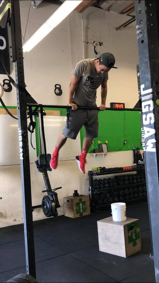 Stephen gets his first bar muscle up last month