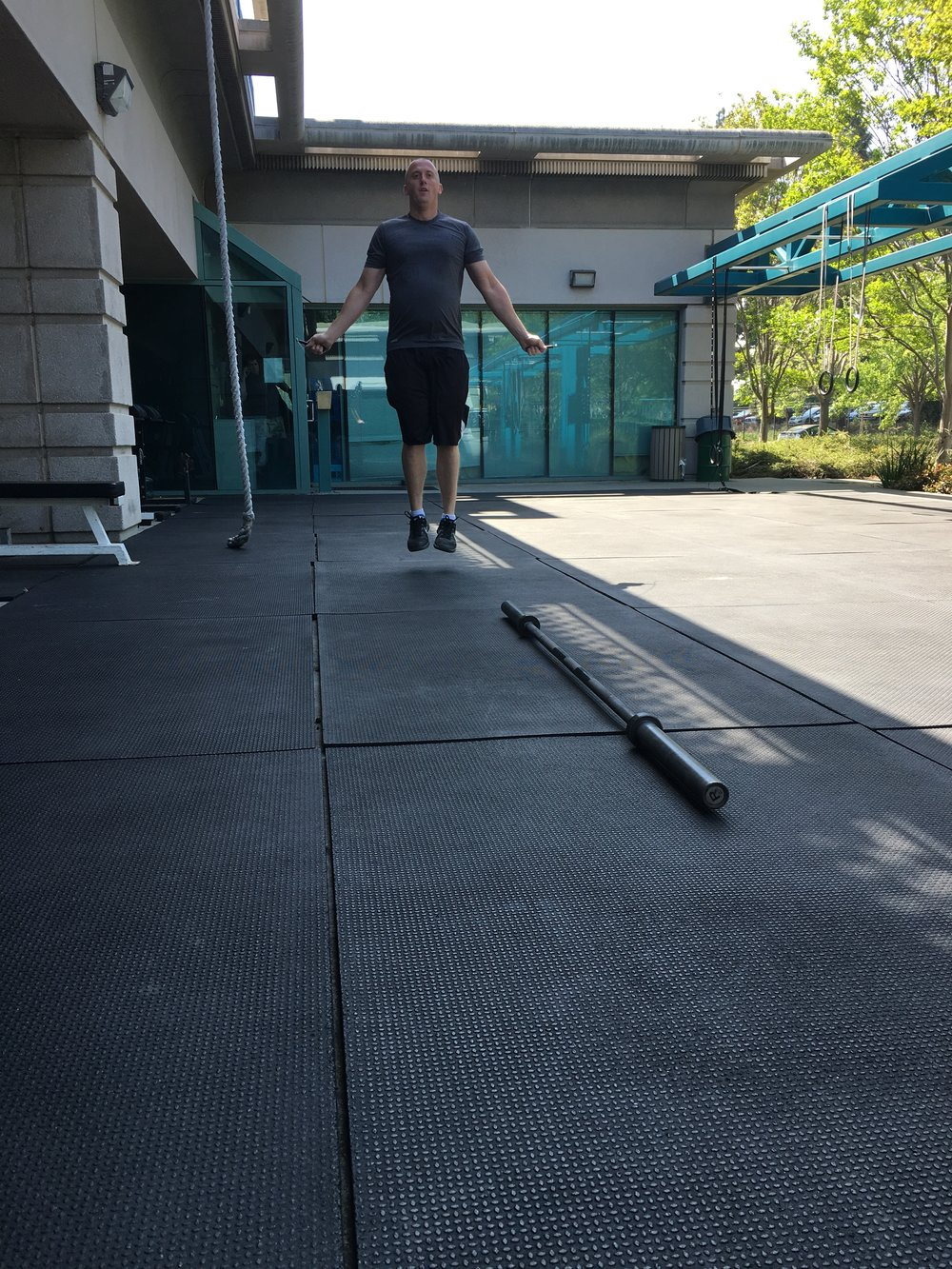One of Fremont PD's finest giving todays workout a test run...