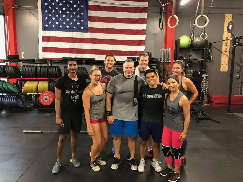 Ken with the 5am class at Ruination CrossFit