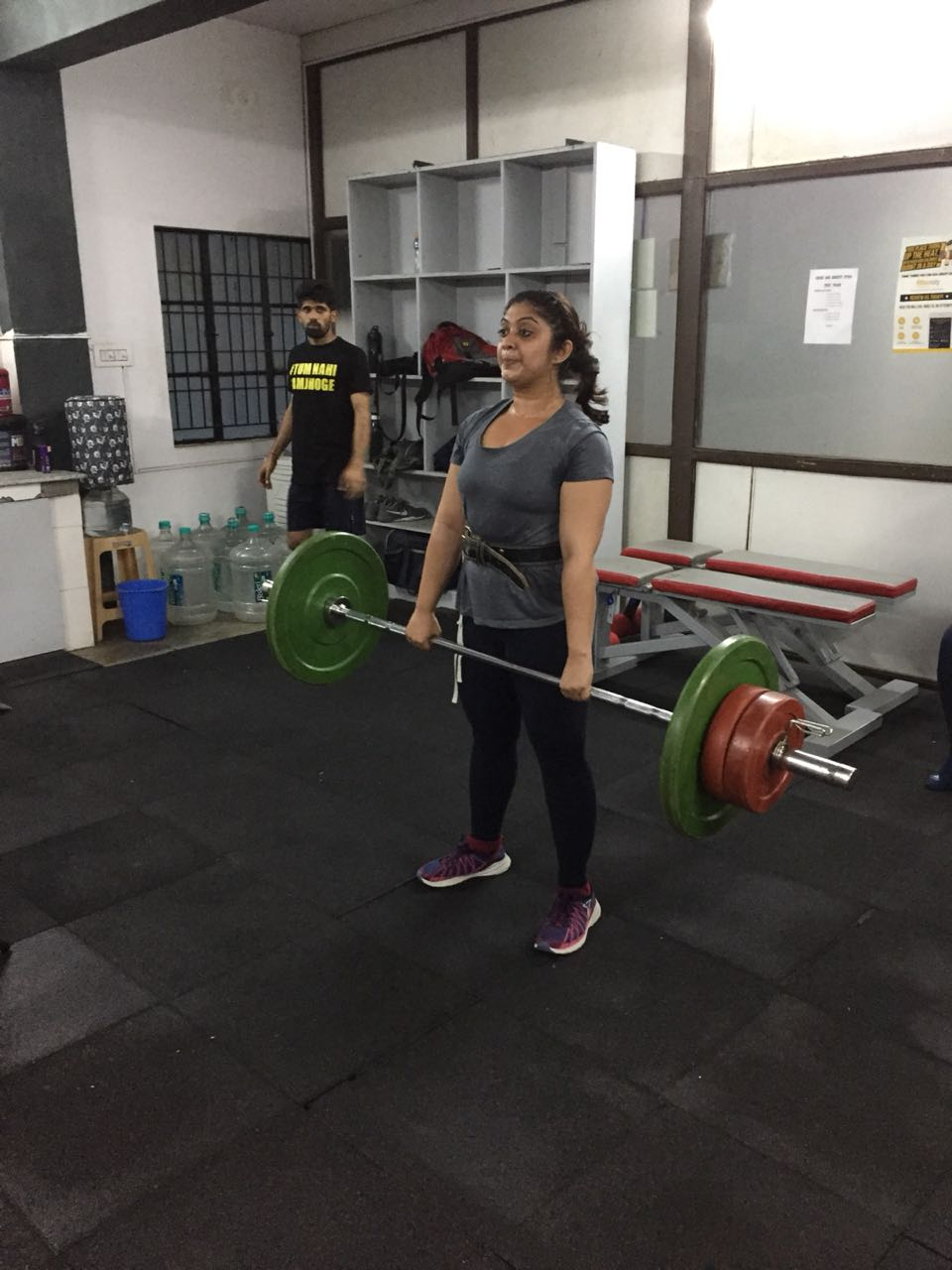 Madhu keeping her fitness while in India