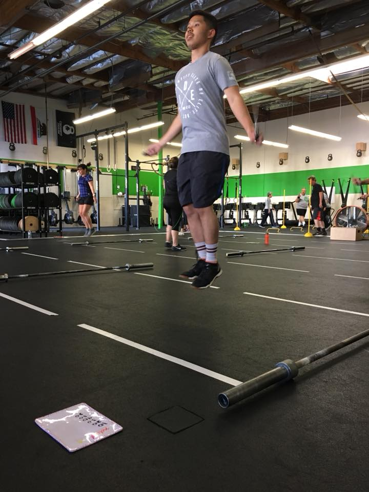 Jervie showing good positions on his double unders