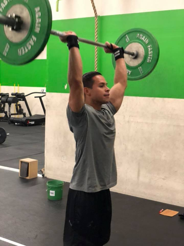 Mark working on a Push press