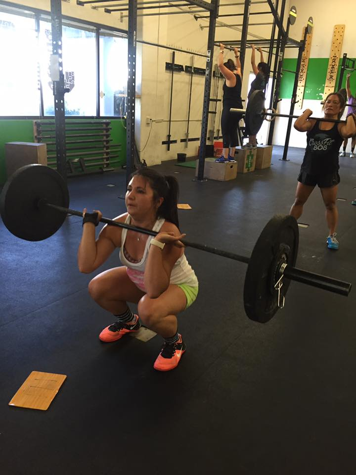 Mary making that front squat look easy!