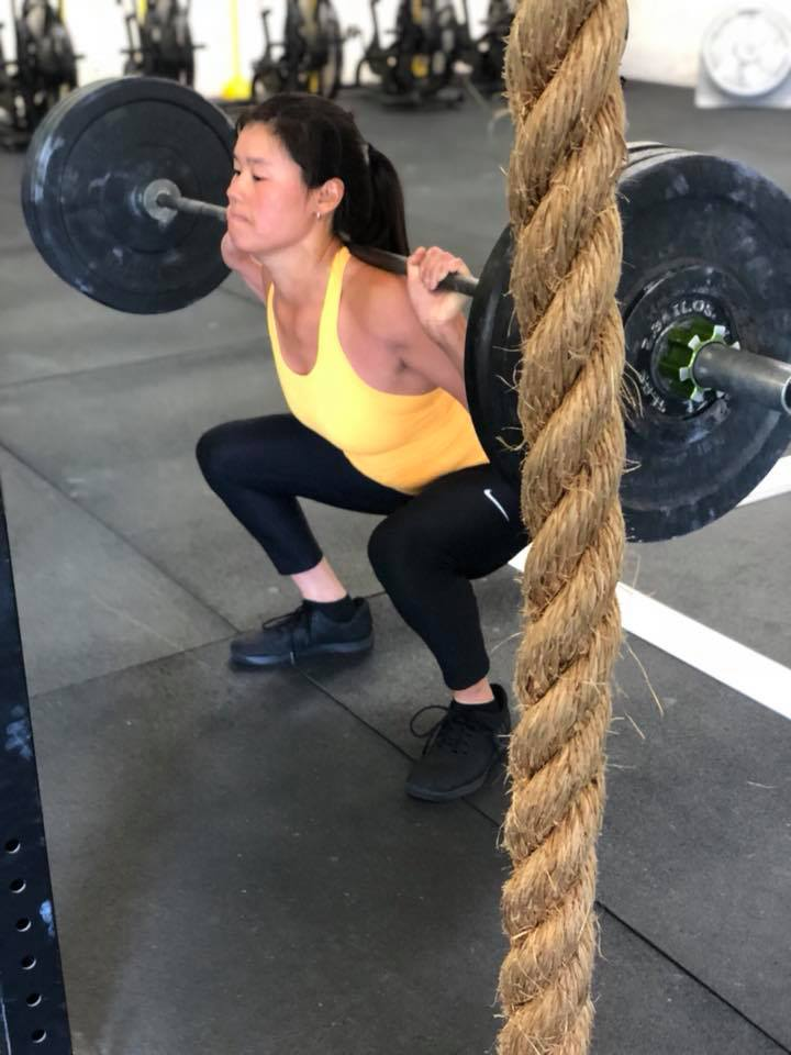 Valerie making a heavy squat look good!