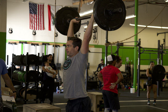 Find that stable overhead position and hit all those push presses today!