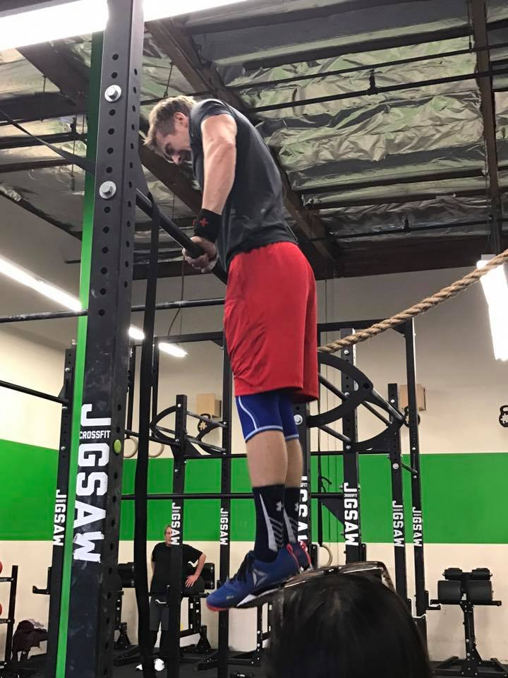 Kevin making a Bar muscle up look easy while maintaining his technique!