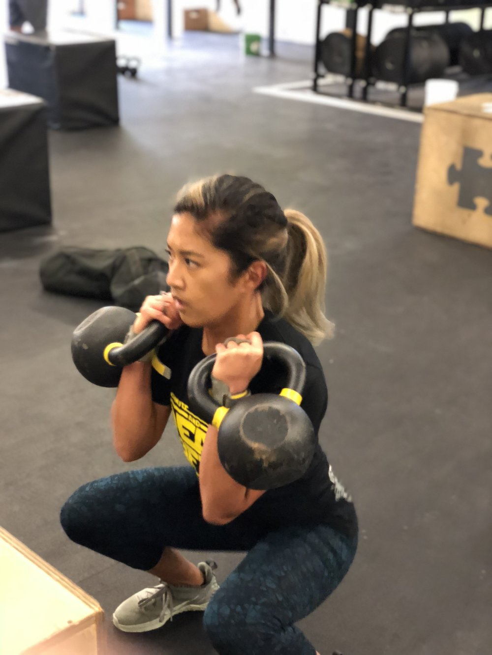 Denean making her squats look easy!