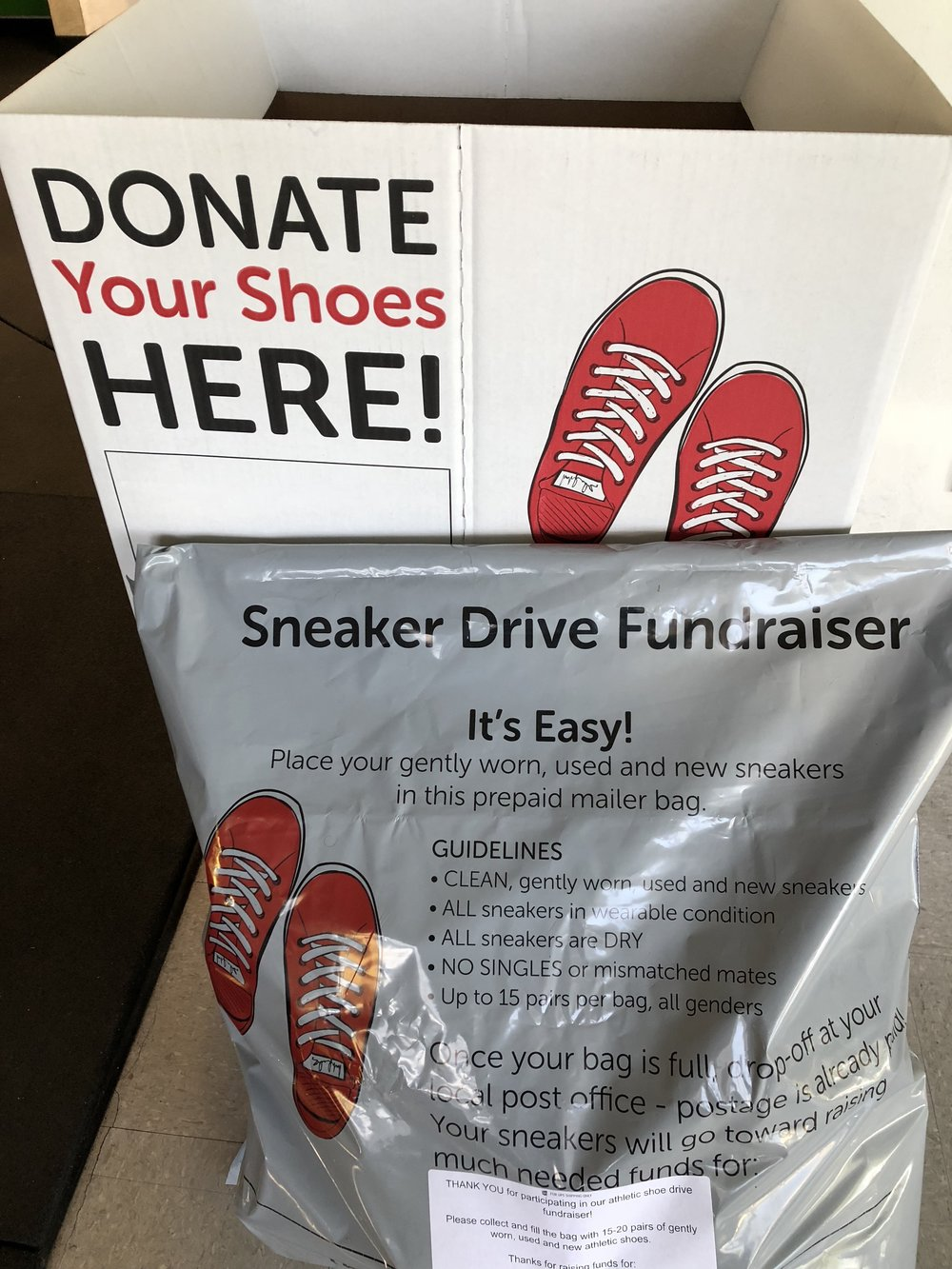 Our first batch of shoes donated is being sent out this week!