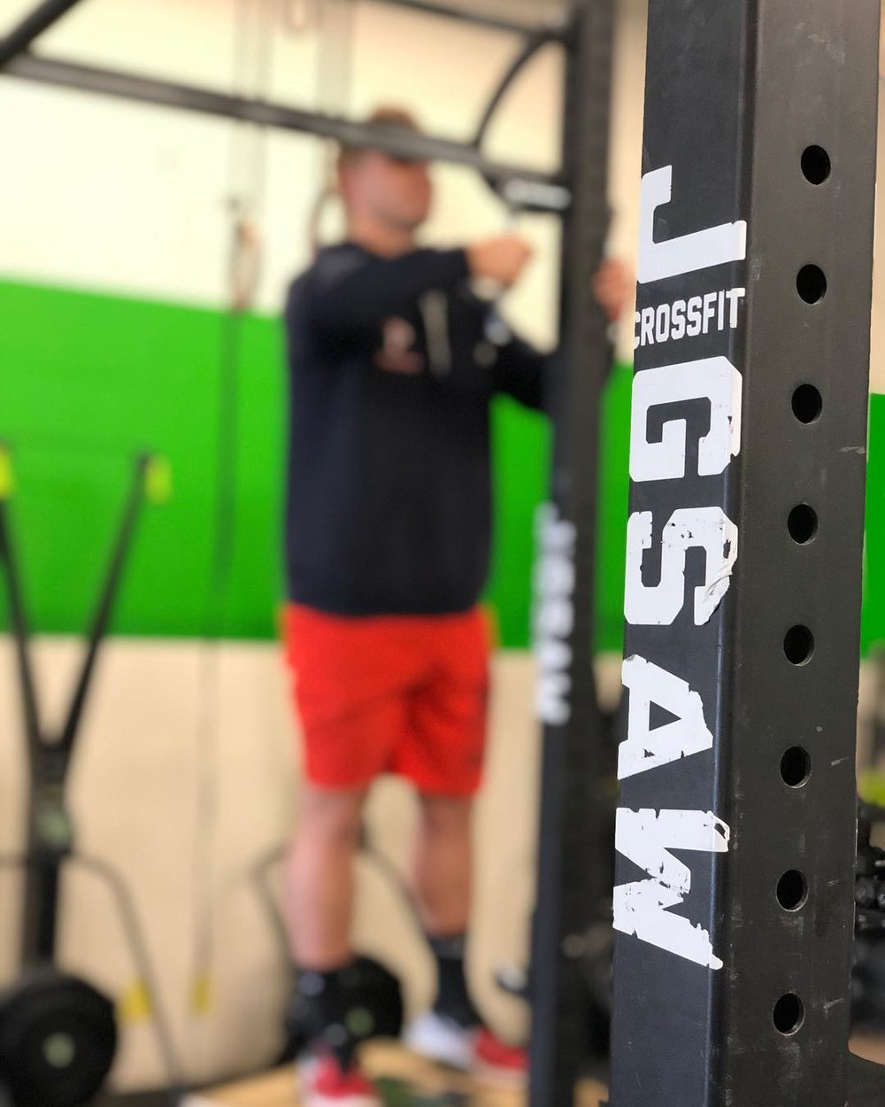 Coach Brock moving pull-up bar