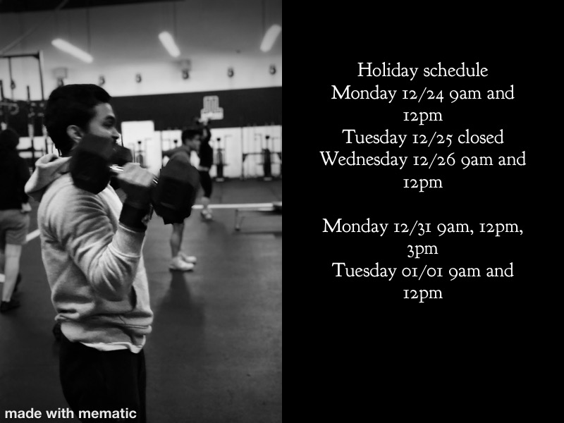 Holiday Schedule today